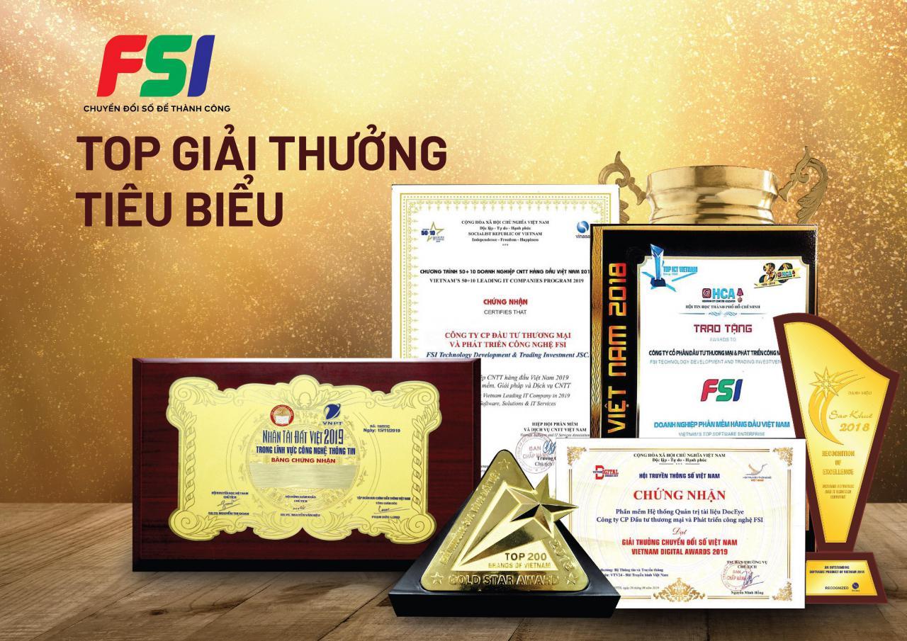 FSI nhận bằng khen Hội viên tích cực năm 2020 do Vinasa trao tặng