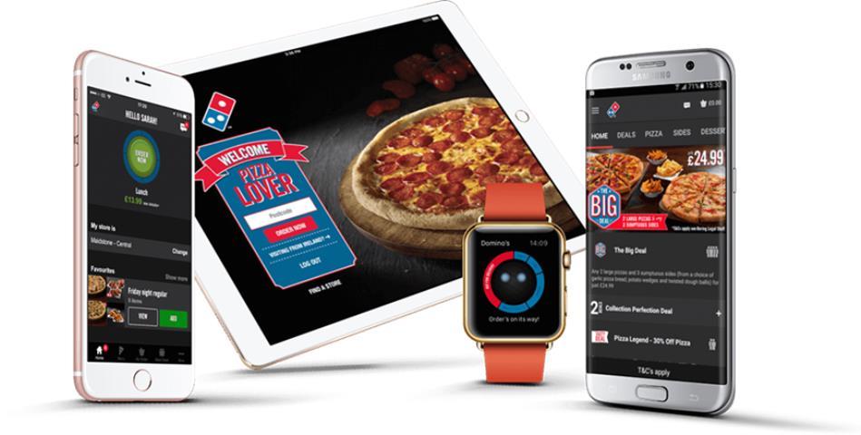 Dominos 'AnyWare cho phép khách hàng đặt hàng từ mọi thiết bị